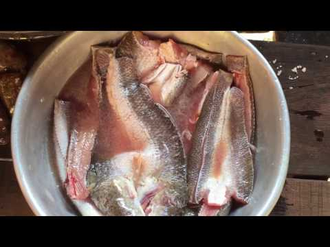 Making the dry fish