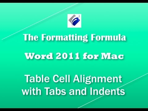 Word for MAC   Table Cell Alignment with Tabs and Indents