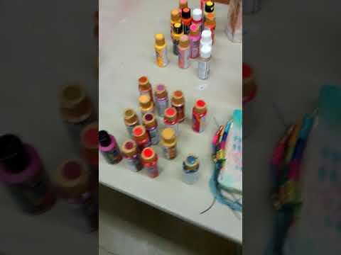 Handmade journals class set-up