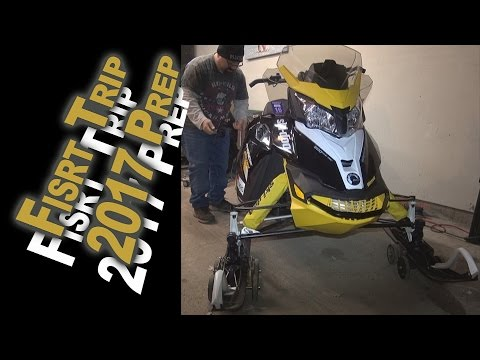 Pre First Snowmobile Trip Prep & Cold Start 12-9-16