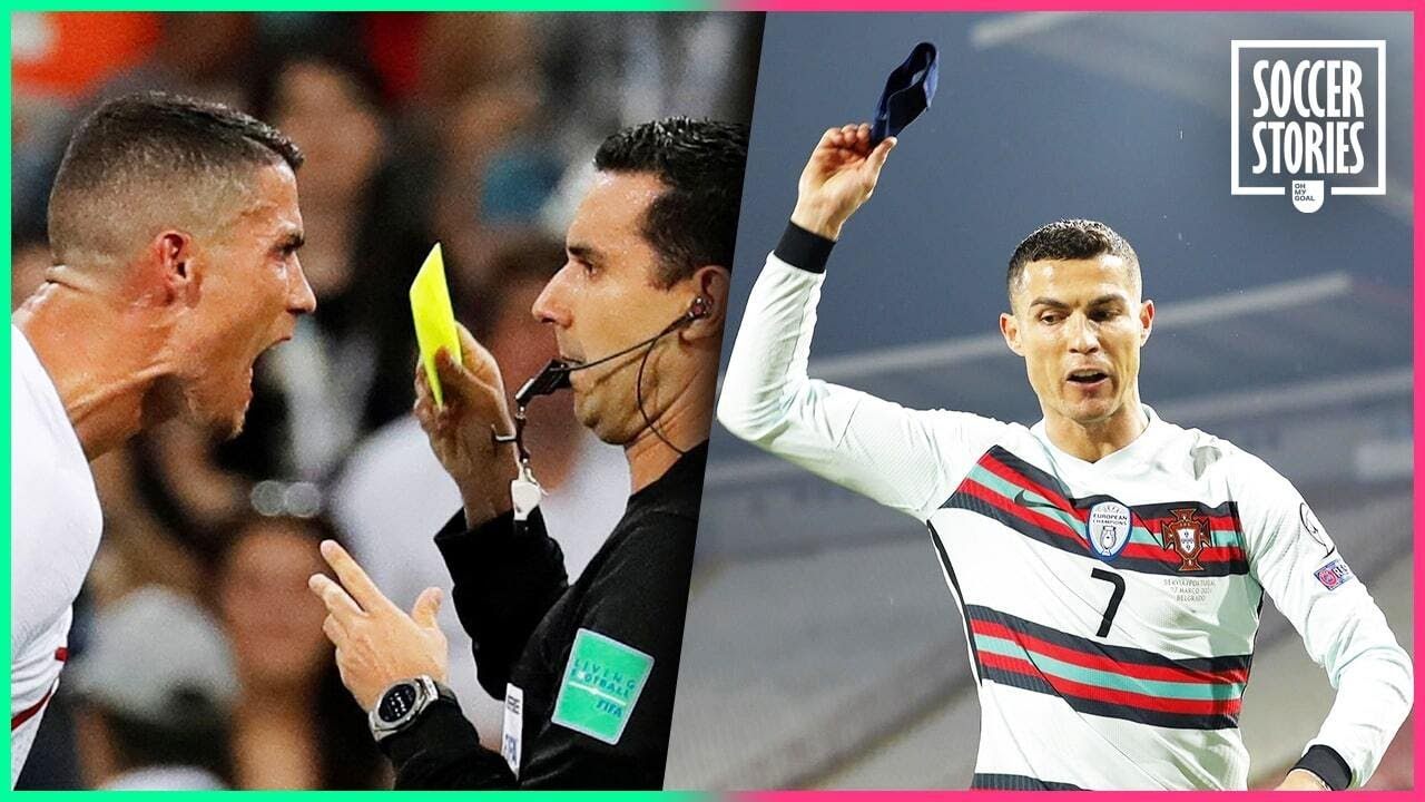 7 times Cristiano Ronaldo lost his temper with a referee | Oh My Goal