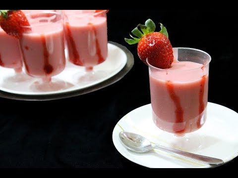 Creamy Strawberry Pudding | Eggless, No Gelatin | Simple & Easy Recipe - Chef Lall's Kitchen