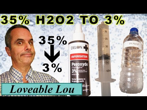 Diluting 35 to 3 H2O2, Hydrogen Peroxide, using CC or ml made even easier
