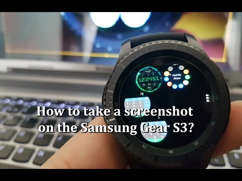 How to take a screenshot on the Samsung Gear S3?