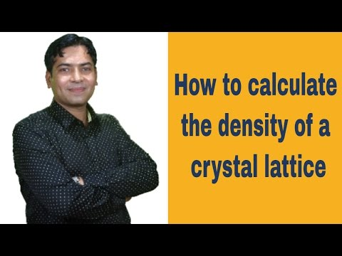 How To Calculate The Density of Crystal Lattice:  NEET Exam Study Guide - LiveTutelage