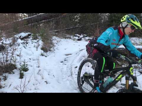 Winter Mountain Biking in Kelowna with Sonya Looney