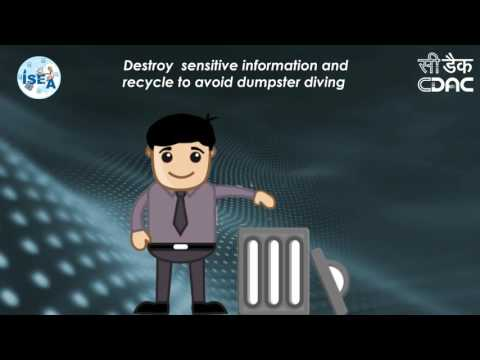 Destroy or securely erase sensitive information before recycling or throwing it away