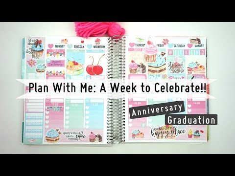 Plan with me// My Anniversary Week//Erin Condren (Vertical)