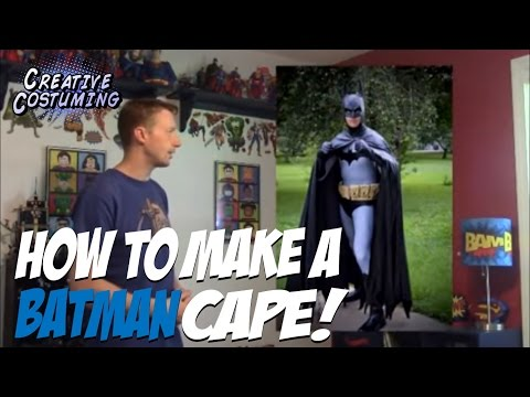 How to Make a Batman Cape and Hood Tutorial