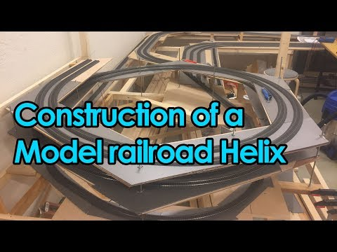 Construction of a model railroad helix - Time-lapse [Trainroom]