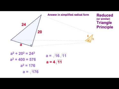 7.1 Reduced Triangle Principle