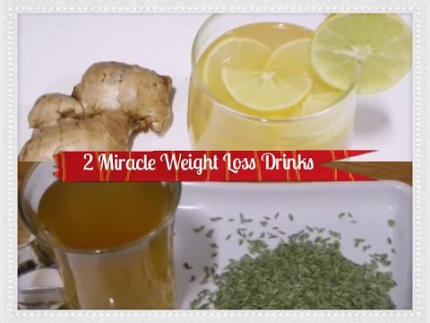 2 Miracle Weight Loss Drinks / 2 Fat Cutter Drinks for Extreme Weight Loss/ Ginger Water,Jeera Water