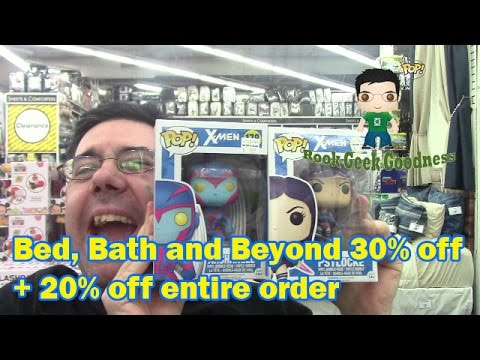 #22 Vlog Funko Pops at Bed, Bath & Beyond 30% off plus 20% off the entire order