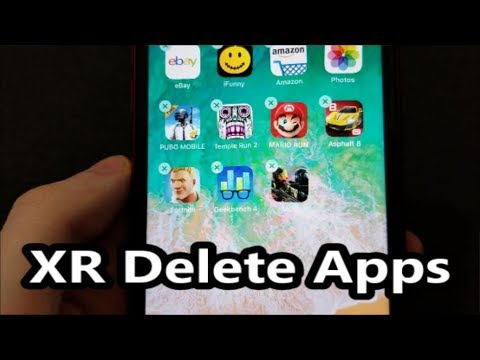 iPhone XR Delete Apps How to