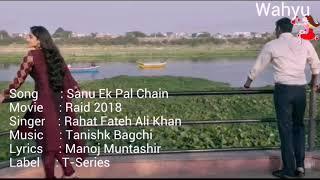 Sanu Ek Pal Chain [English] . Raid   Ajay Devgn , Ileana D'Cruz   Rahat Fateh Ali Khan   T-Series