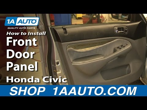 How To Install Replace Remove Front Door Panel Honda Civic 01-05 1AAuto.com