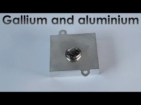 Reaction of Liquid Gallium with Aluminium