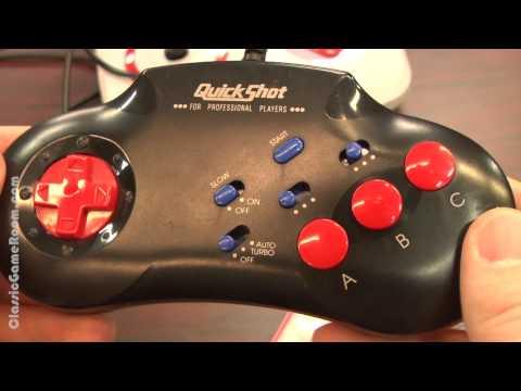 Classic Game Room - SEGA GENESIS QUICKSHOT controller review