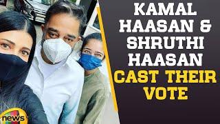Kamal Haasan \u0026 Shruthi Hassan cast vote at Chennai High School in Teynampet | Mango News