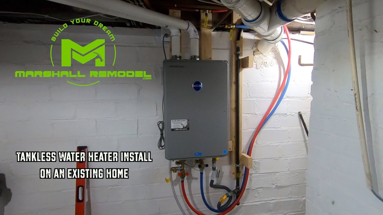 Tankless Water Heater Install | Existing Home