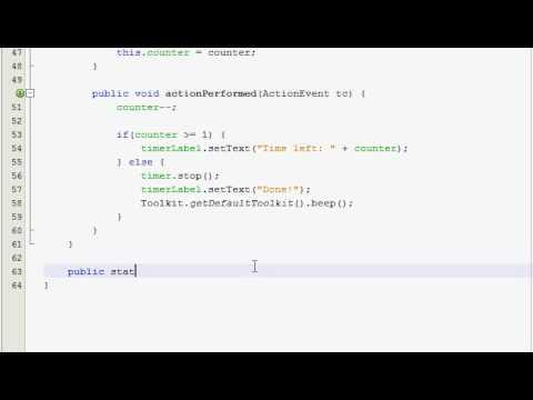 Java GUI Tutorial 30 - Timer program (Part 2 of 2)