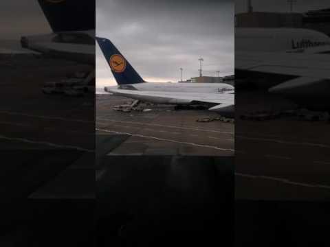 Lufthansa Airbus Frankfurt Airport View