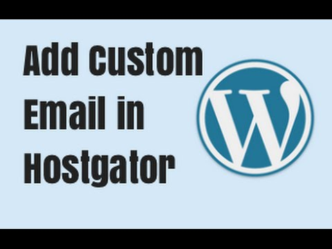 Set up Custom Email Account with Hostgator