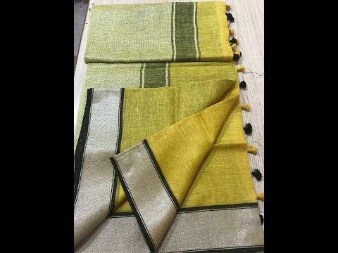 Pure Linen Latest Trendy Collections │Linen Sarees│Pure Linen│Linen Sarees