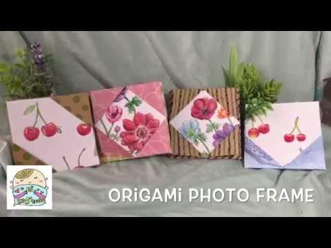 EASY Origami Photo Frame フォトフレーム折り紙 相框摺紙 DIY