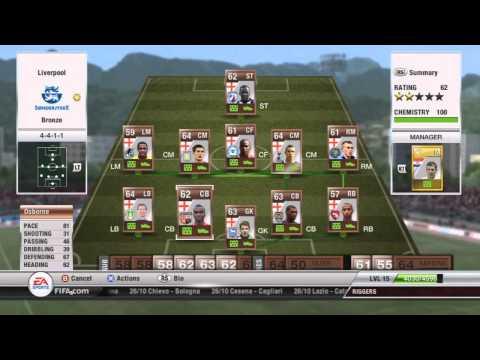 Fifa 12 Ultimate Team - English Bronze Team