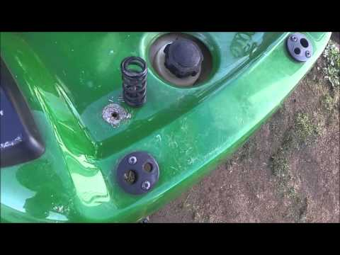 How to Remove Install Seat Springs on John Deere Riding Lawnmower LA100
