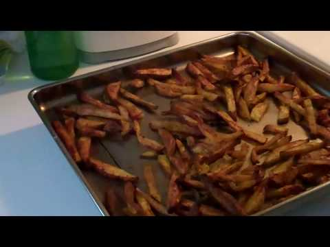Crispy Potato Wedges done in the toaster oven