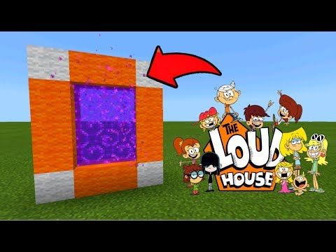 Minecraft Pe How To Make A Portal To The Loud House Dimension - Mcpe Portal To The Loud House!!!