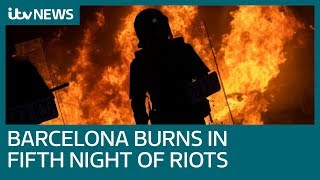 Catalonia on fire as thousands riot in independence clashes | ITV News