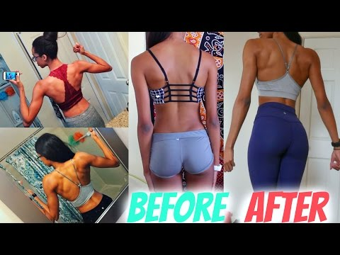 HOW TO GET A SMALLER WAIST | Favorite Back Exercises• Lawenwoss