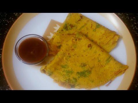 Gujarati  recipe/ masala pudla/ऐसे बनाये स्वादिष्ट मसाला (पुडला) चिल्ला/મસાલા પુઽલા બનાવવા ની રીત/