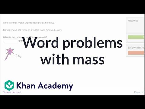 Mass problems | Measurement and geometry | 3rd grade | Khan Academy