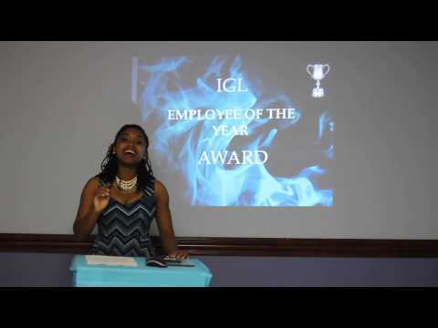 Award Presentation Speech to the Employee of the year