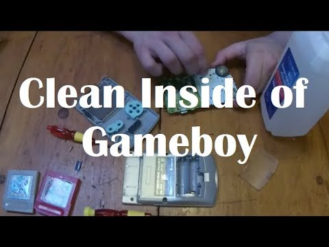 How To Clean The Inside of A Gameboy Color | Fix Unresponsive Buttons