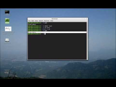Working with directory using command line terminal in Linux Mint