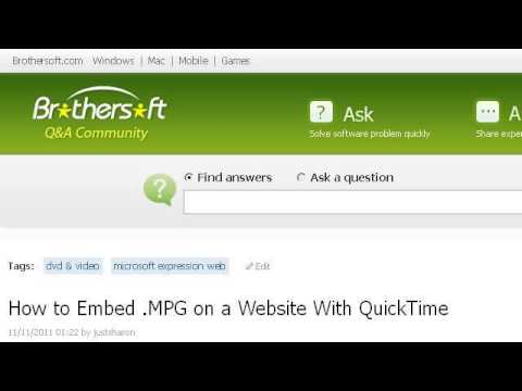 How-To Embed A Quicktime MP3 In DIV