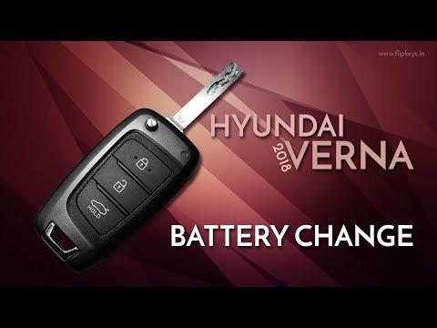 New Verna 2018+ Key Fob Battery Change