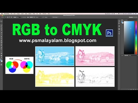 How to convert RGB to CMYK in photoshop - Ps Malayalam