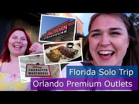 Day 9 | Longhorn Steakhouse & Orlando Premium Outlets | Walt Disney World solo trip | Florida 2017
