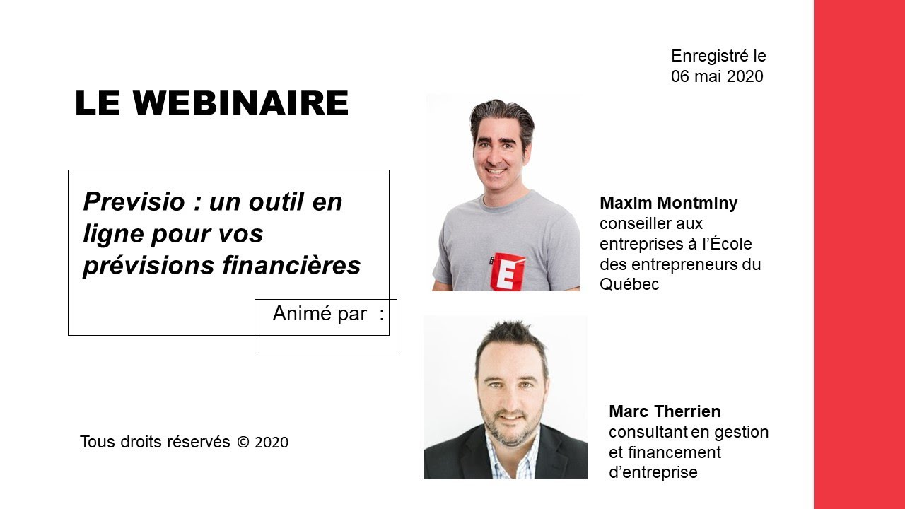 Webinaire - Previsio : un outil en ligne pour vos prévisions financières