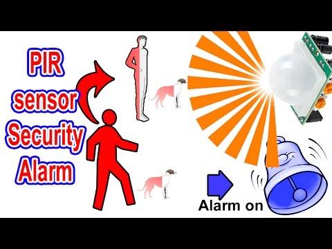 PIR motion sensor security alarm  How to make