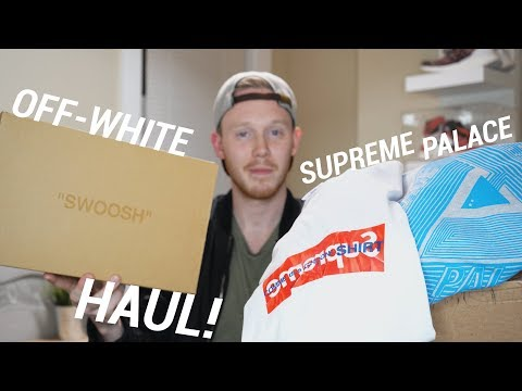 CRAZY SUPREME, PALACE AND OFF-WHITE SNEAKER UNBOXING & HAUL!