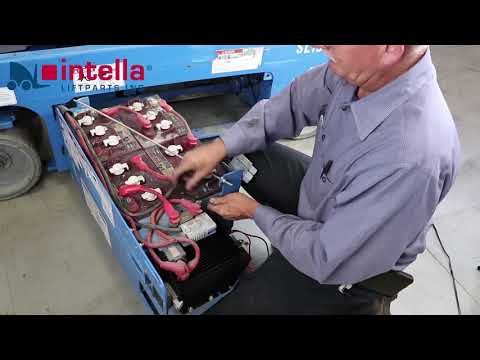 How to replace a Genie 105739 scissor lift battery charger