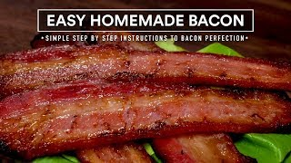 EASY Homemade BACON, Step by Step to Perfect DIY Bacon!