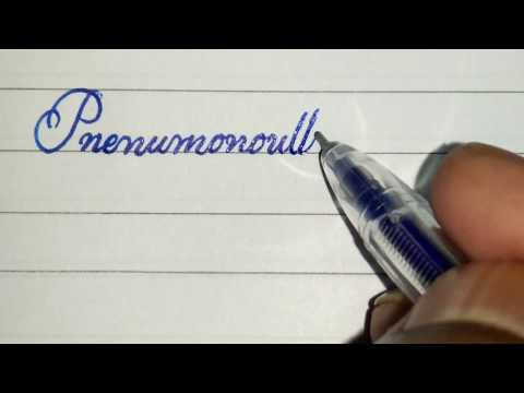 Neat handwriting with gel pen l| Gel pen calligraphy || the longest vocabulary || CURSIVE WRITER